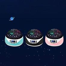 USB Romantic Starry Sky Projector LED Light Colorful Flashing Original LED Corridor Night Light Home Night Lamp