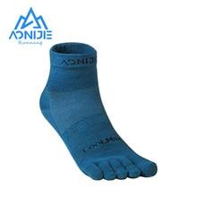 Toe Socks Running-Shoes AONIJIE Athletic Quarter for Five-Toed Barefoot Marathon E4109S