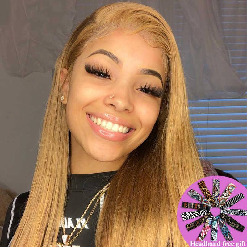 13X4 Lace Front Menselijk Haar Pruiken Soku Braziliaanse Rechte Bruin Blond Rood Preplucked Lace Front Pruik Remy Haar pruik Voor Zwarte Vrouwen