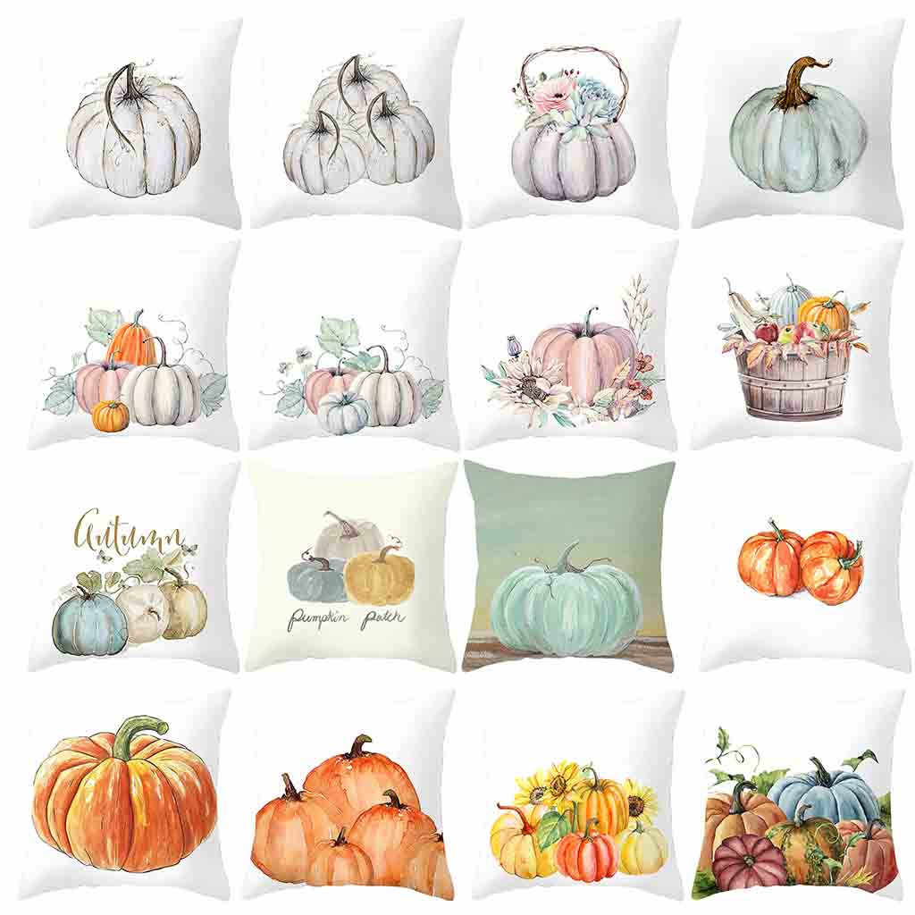 Fall Halloween Pumpkin Pillow Case Waist Throw Cushion Cover Sofa Home Decor 2019 New Arrival