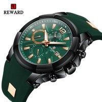 Ricompensa moda uomo orologio cronografo impermeabile orologio da uomo Sport data orologi da polso al quarzo orologio da polso luminoso antigraffio