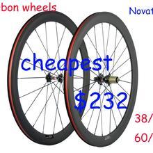 Full 700C Carbon Road Bicycle Wheelset 38/50/60/88mm  Clincher Bike  Wheels  3k Matte