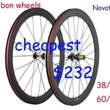 Full 700C Carbon Road Bicycle Wheelset 38/50/60/88mm  Clincher Bike  Wheels  3k Matte