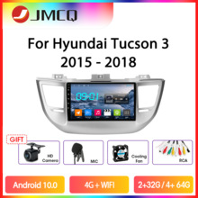 JMCQ Android 9,0 Auto Radio Für Hyundai Tucson 3 2015-2018 Multimedia GPS Video-Player 2 Din 2 + 32G Stereo Split Screen Mit Rahmen