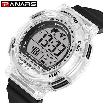 PANARS Children Watches Sports Waterproof Colorful LED Watch Kids Digital Wristwatch Alarm Electronic Students Watches Reloj
