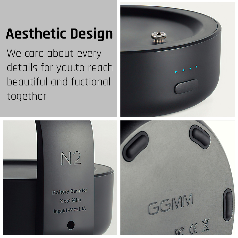 GGMM N2 Battery Base For Google Nest Mini 2nd Generation Google Assistance Smart Speaker Docking Station Battery Charging 20Hour