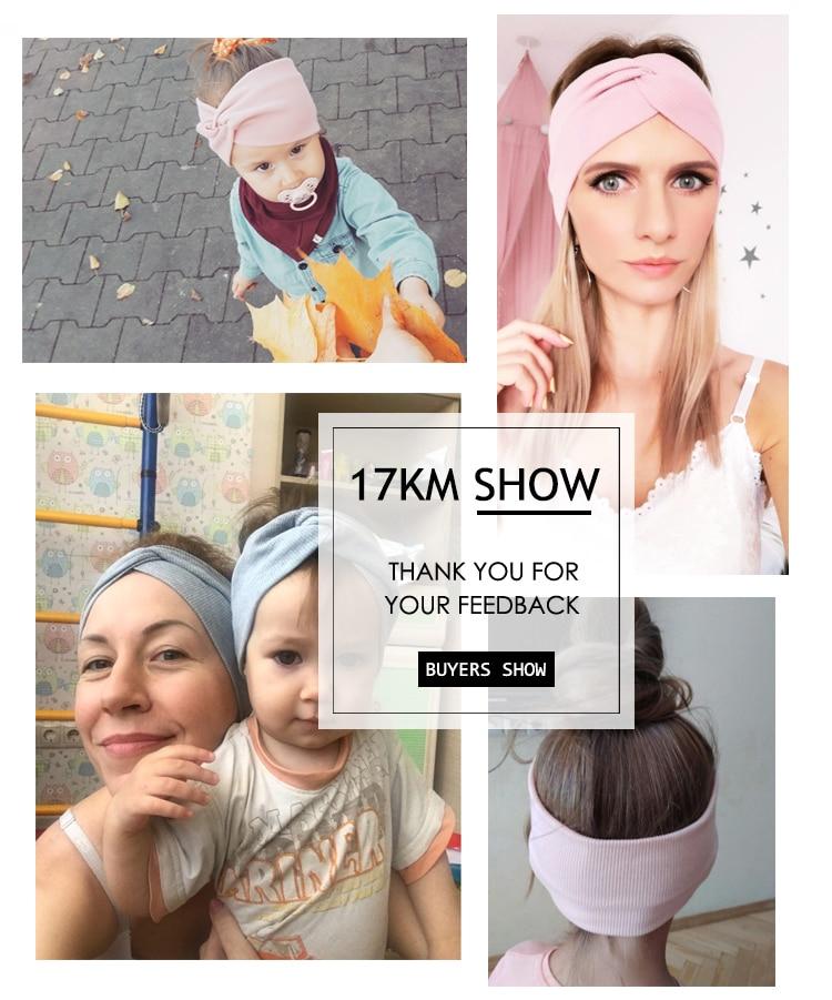 17KM 13 Color Cotton Headband For Women Girl Baby Headband 2020 Elastic Knot Headbands Twist Fashion Cross Hair Accessories