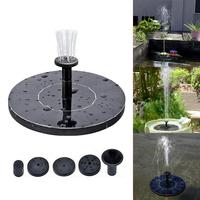 "New 5.3"" Round Solar Fountain Floating Water Fountain Fontaine Garden Pool Solar Fontein Pool Pond Waterfall Garden Decoration"