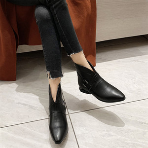 Image 4 - FEDONAS Female Elegant Short Boots Quality Genuine Leather Women Ankle Boots Party Dancing Shoes Woman Big Size Chelsea Boots