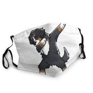 Забавная моющаяся маска для лица в виде горной собаки Bernese, противодымчатая, морозостойкая, зимняя защита, муфельная маска для мужчин и женщ...