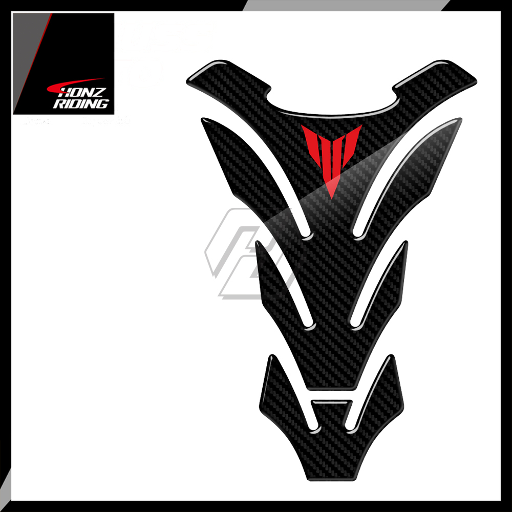 For Yamaha MT01 MT03 MT09 MT10 MT-09 Tankpad 3D Carbon-Look Motorcycle Tank Pad Protector