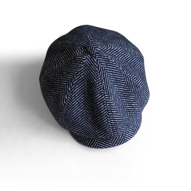 2020 nouveau unisexe automne hiver gavroche casquettes hommes et femmes chaud Tweed octogonal chapeau pour mâle détective chapeaux rétro plat casquettes BLM258