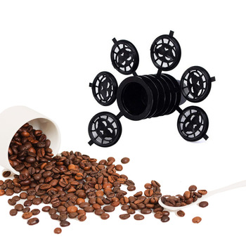 6 sztuk czarny wielokrotnego napełniania kawy Capsula napełniania filtr Pod wielokrotnego użytku Nespresso kapsułki do kawy kubek łyżka zestaw pędzelków #8230 tanie i dobre opinie dalinwell Z tworzywa sztucznego Wielokrotnego użytku Filtry