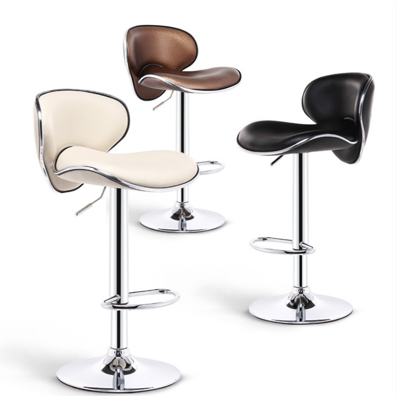 Bar Stools Modern Minimalist High Back Lift Bar Chair Bar High Stool Tabouret De Bar Banqueta Cadeira Chaise Disc Foot