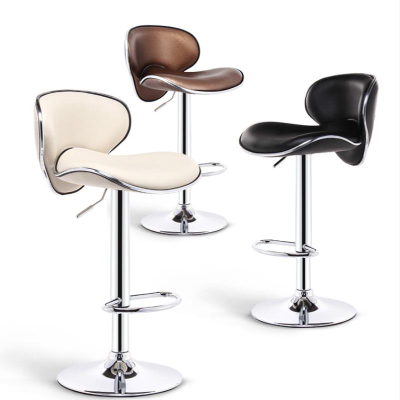 Bar Stools Modern Minimalist High Back Lift Bar Chair Bar High Stool Tabouret De Bar Banqueta Cadeira Chaise Disc Foot