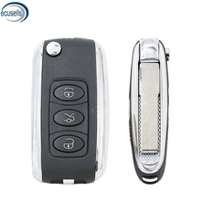Для Bentley Стиль серебристой стороной изменение откидная оболочка ключа дистанционного управления 3 кнопки дистанционного ключа для V-W B5 пуль...