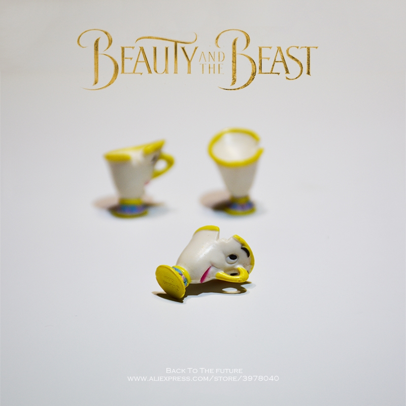 Disney Beauty And The Beast Belle Cup 3pcs/set 2cm Doll Action Figure Anime Mini Collection Figurine Toy Model For Children Gift