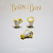 Disney belleza y la Bestia bella Copa 3 unids/set 2cm muñeca figura de acción Anime Mini colección figurita juguete modelo para el regalo de los niños