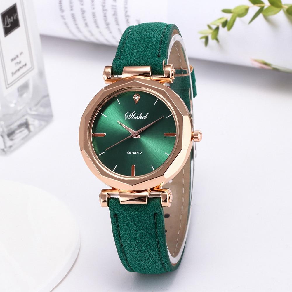 Fashion Women Leather Casual Watch Luxury Analog Quartz Crystal Wristwatch Fashion Casual Female Wristwatch Luxury 2019 Dress
