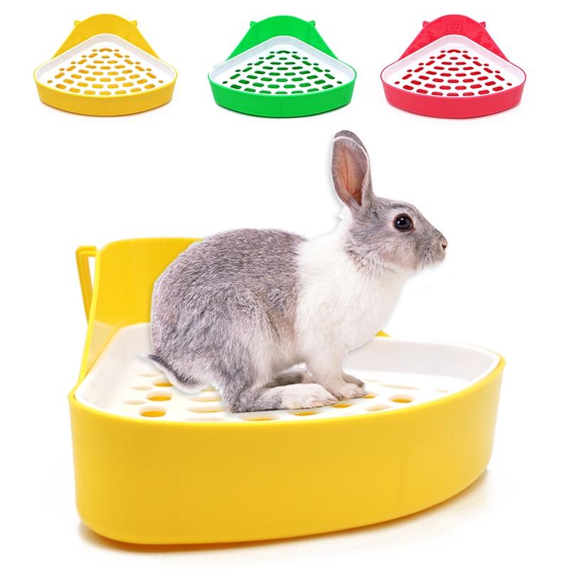 Pet Cat Rabbit Pee Toilet Small Animal Potty Bowl Corner Clean Litter Trays Hot Sell Pet Animal tools