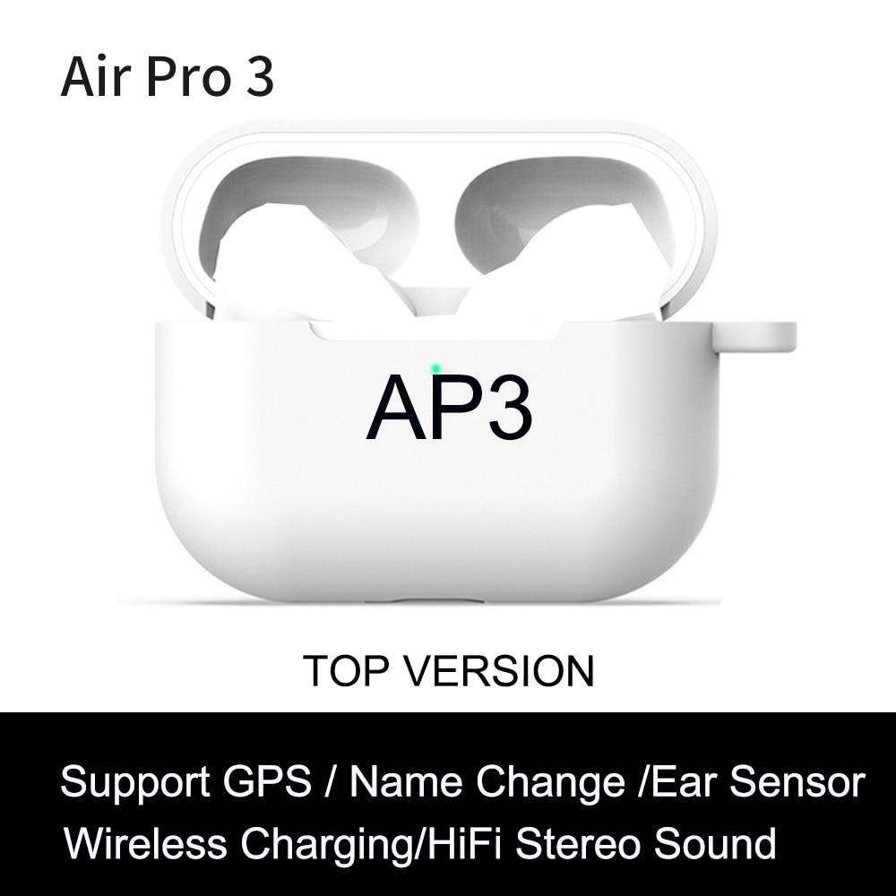 AP3 наушники-вкладыши TWS с Wirelesss Bluetooth наушники 1:1 светильник Сенсор без отрезать muisc наушники 9D супер бас PK i99999 плюс i900000 Pro