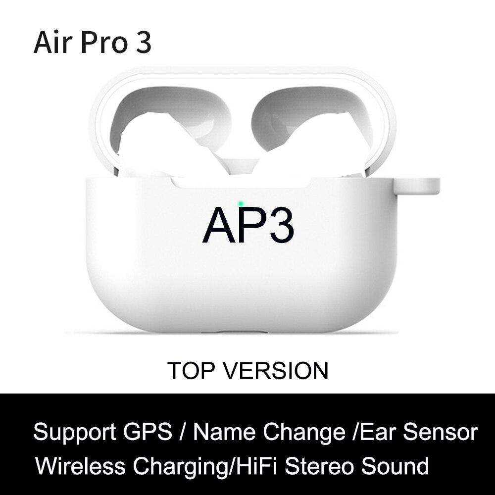Ap3 tws wirelesss bluetooth fones de ouvido 1:1 sensor de luz nenhum corte muisc fones 9d super baixo pk i99999 plus i900000 pro