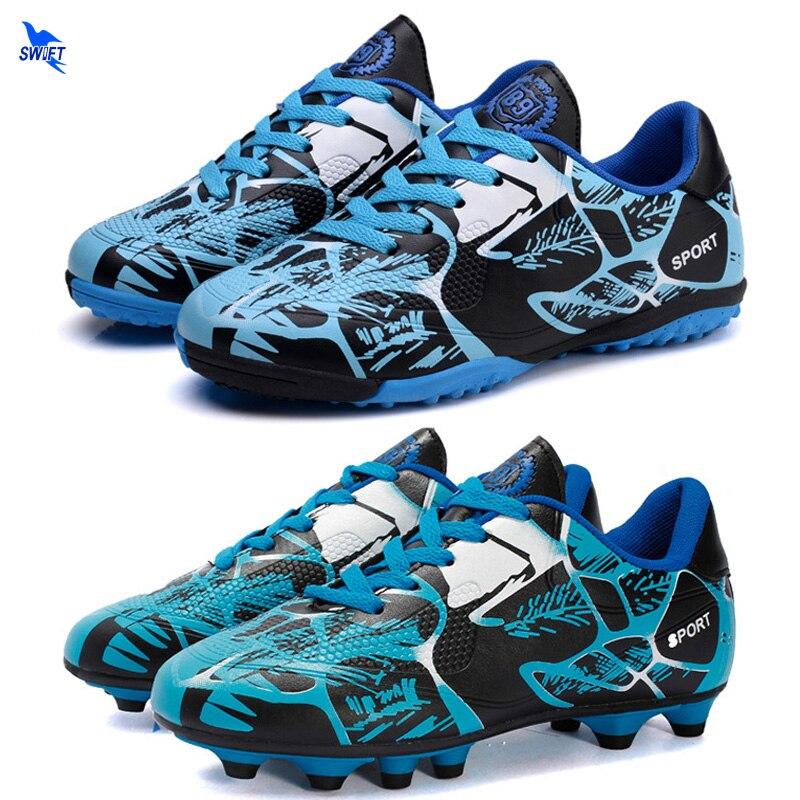 31 45 Men Boys AG TF Soccer Shoes Turf FG Kids Football Boots Teens Futsal Cleats Outdoor Lawn/Hard Court Training Sport Sneaker|Soccer Shoes| |  - title=