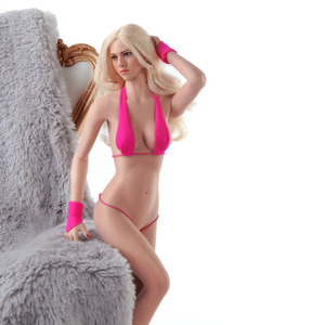 JIAOU DOLL 1/6 Scale Suntan Skin Europe Girl Female Women Medium Bust Seamless Flexible Body Doll 12