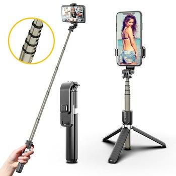 selfie stick tripod bluetooth 3 in 1 for smartphone phone xiaom huawe telescopic gopro