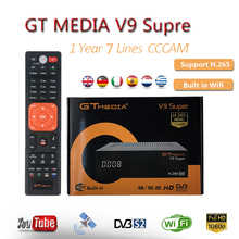 Super Satellite Receiver GTMedia V9 DVB-S2 H.265 Built-in WiFi with 1 Year Spain Europe Cccam server hd Support Network Sharing original skybox m5 s m5 mini hd digital satellite receiver with wifi build in support cccam newcam network epg