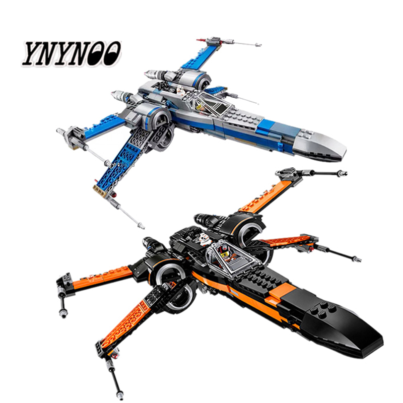 New Lepining Star Wars 75149 X Wing Star Tie Fighter Building Blocks Compatible Star Plan Wars Toy 79102 75211 75101