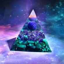 Handmade Lapis Lazuli Sphere Orgone Pyramid Amethyst Malachite Crystal Healing Orgonite 60mm