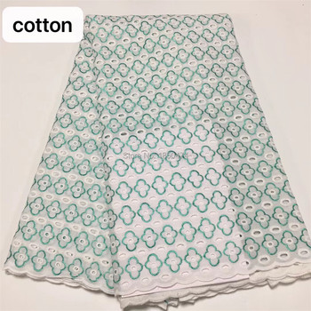 Hollow Out Dress Sewing African Dry Lace Fabric Embroiderey High Quality Nigerian Lace Fabric Swiss Voile Lace In Switzerland YC