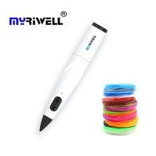Myriwell 3d caneta profissional caneta de impressão 3d com 10 cores pcl filamento brinquedo criativo presente para crianças desenho diy 3d impressora caneta