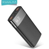 KUULAA-cargador portátil de 20000mah, Cargador rápido 3,0, PD, para redmi note 10, 9 pro, 9s, iphone 12, 11