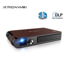 Mini Wifi 3D DLP mały zewnętrzny przenośny bezprzewodowy film HD wsparcie 1080p Airplay mobilny zestaw kina domowego Wi-fi kieszonkowe z podświetleniem LED projektor tanie tanio CAIWEI Automatyczna korekcja CN (pochodzenie) 16 09 Brak 1280x800 dpi 3500 lumenów 20-120 cali Led light RZUCANIE OBRAZU