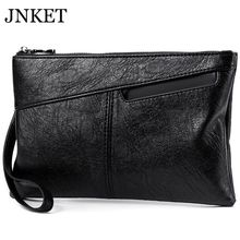 JNKET Fashion Soft PU Leather Men's Clutch Handbag Large Capacity Clutch Bag Bus