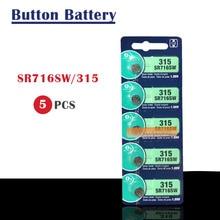 5 шт. батарея для часов с оксидом серебра 315 SR716SW 716 1,55 в бренд renata 315 renata716 батарея