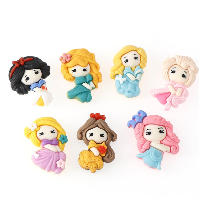 20pcs/lot Mix Kawaii Girl Resin Cabochons Accessories For Hair Clothing Shoes Planar Resin DIY Home Decoration 6