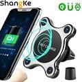 QI Беспроводное Автомобильное зарядное устройство  магнитное быстрое крепление для телефона  ультра-быстрое Qi зарядное устройство  креплен...