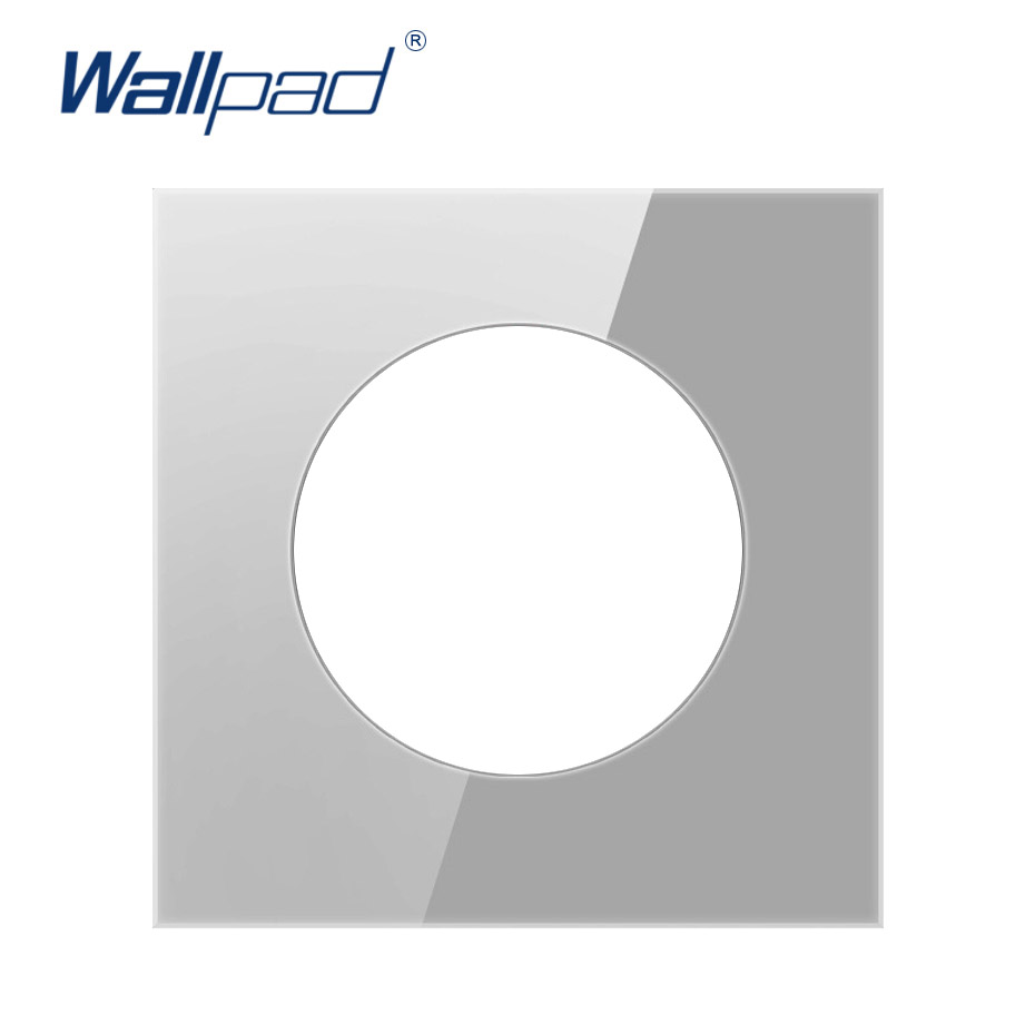 Wallpad Single Tempered Glass Panel Only 86 86mm White And Black Round Circle Glass Stainless Steel Pc Panel Big Discount 22fc9 Cicig