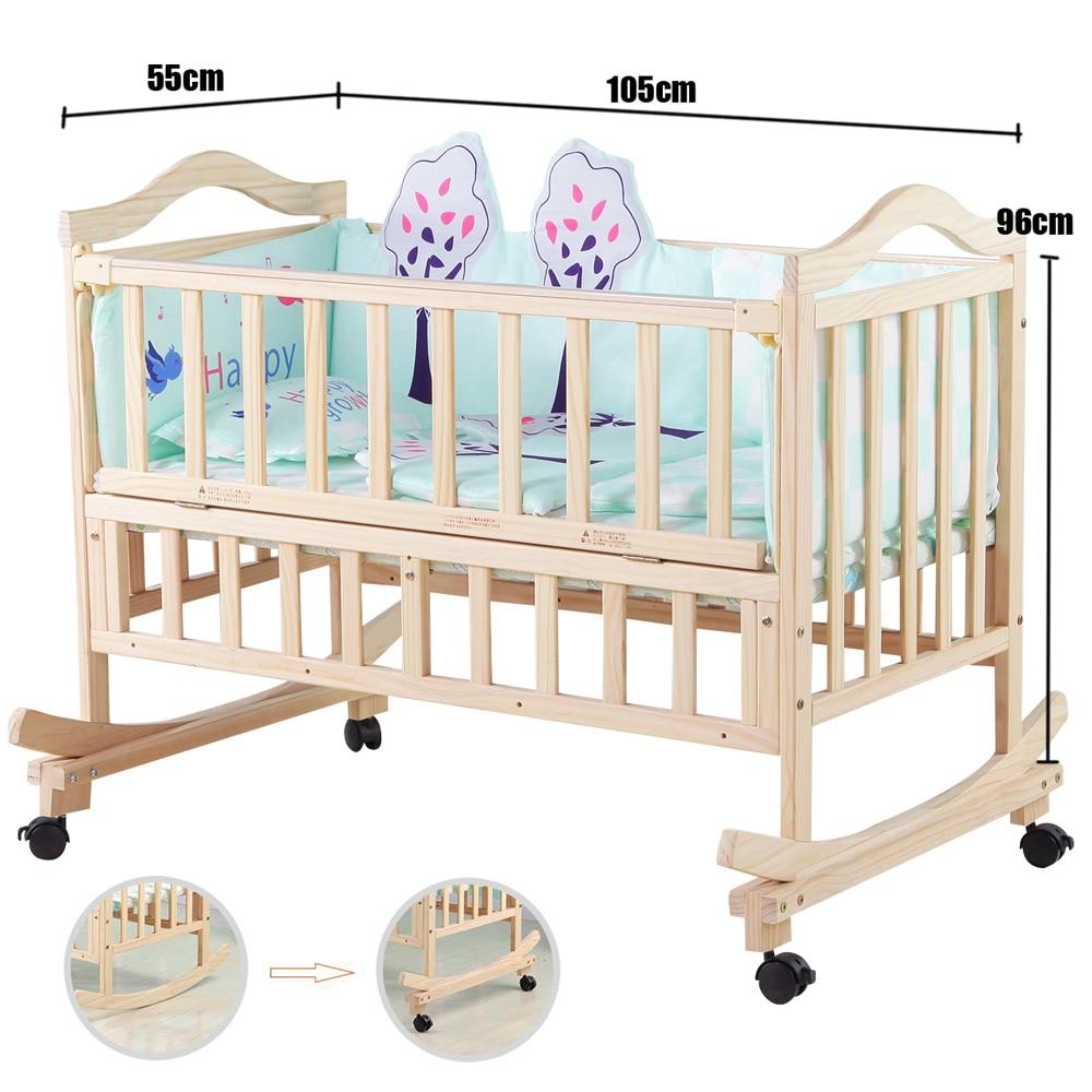 Keine Strahlung Elektrische Schaukel Babywiege, Baby Schaukel Kiefer - Babymöbel - Foto 6