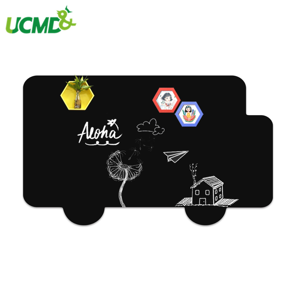 60*50cm Hold Magnets Message Blackboard Home Office Decor Sticker Kid Graffiti Writing Painting Board Toy With 6 Colorful Chalk
