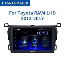 "Dasaita 9 ""araba radyo çalar 1 Din Android 10.0 için Toyota RAV4 2014 2015 2016 2017 2018 TDA7850 64GB ROM 4GB RAM GPS navigasyon"
