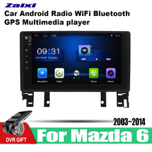 ZaiXi Android Car 2 din multimedia GPS Navigation For Mazda 6 2003~2014 vedio stereo Radio audio wifi video map