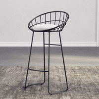 Nordic Bar Chair Iron Chair Golden High Chair Leisure Chair Modern Dining Chair Various Heights Three Colors to Choose From