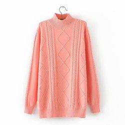 Plus größe Criss-cross gebreide women truien trui NIEUW casual dames Elasticiteit Coltrui losse übergroßen trui vrouwelijke
