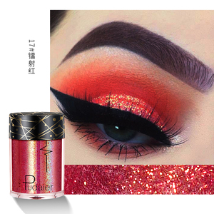 Pudaier 24 Colors Sequins Glitter Shimmer Pigment Face Body Hair Eye Glitter Pigments Party Festival Eyeshadow Cosmetics TSLM1