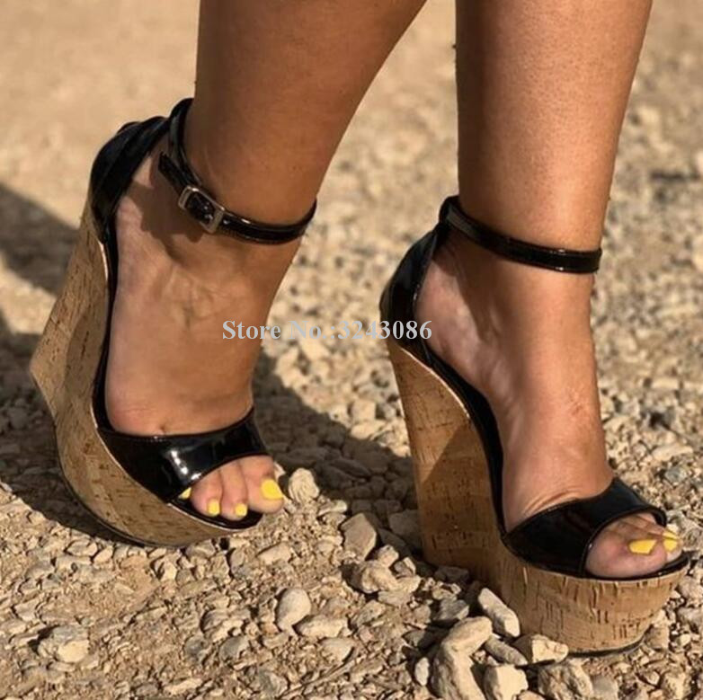 Sexy Women Wedge Sandals Shoes New Peep