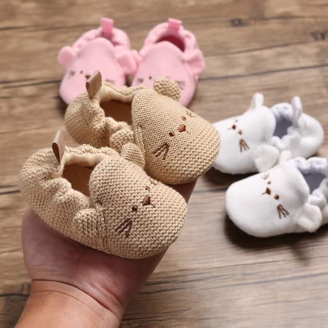 Baby Girls Shoes Infant First Walkers Nonslip Soft Sole Toddler Baby Shoes Hot Sale For 0-18M Toddler Baby Shoes